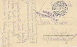 Saint Remy , Aube ,cachets De La Feldpost Et Du Bataillon Au Dos,envoyée En Allemagne,1916 ,2 Scans - Poststempel (Briefe)