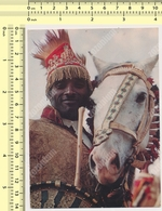 Ethiopia - Warrior In Traditional Dress - 1966 - Stamp - National Bank POSTCARD  RPPC PC PPC - Ethiopia