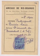 CARTE AMICALE De RIS-ORANGIS  1953 . Habitant à SAINT LAURENT DE BREVEDENT - Historical Documents