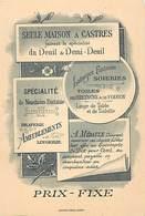 Grd For-ref Z356- Bon D Escompte Albert Medaule -castres -tarn -funeraire -mouchoirs -soieries -toiles De Bretagne - Negozi