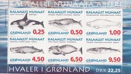 Groenland, Bloc N° 10 (Orque, Baleine, Dauphin, ...), Neufs ** - Blocs
