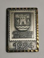 Luxembourg Médaille, Cercle Philatélique Esch-Alzette. 60e Anniversaire 1984 - Entriegelungschips Und Medaillen