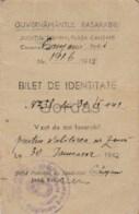 Moldova - Bessarabia - Tighina - Causani Noi - 1942 - Bilet De Identitate - Guvernul Basarabiei - Historical Documents