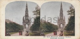 UK - Scotland- Edinburgh - Scott Monument - Princess Gardens - Stereoscopic Photo - 175x90mm - Stereoscoop