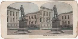 Norway - Christiania - Oslo - Statue Of Schwelgaard - Stereoscopic Photo - 175x90mm - Stereoscoop