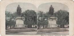 Norway - Christiania - Oslo - Statue Of Wergeland - Stereoscopic Photo - 175x90mm - Stereoscoop