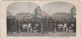 Norway - Oslo - Christiania - Market - Stereoscopic Photo - 175x90mm - Stereoscoop