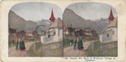 Switzerland - People We Meet In Mountain Village Of Tschamut - Stereoscopic Photo - 175x90mm - Stereoscoop
