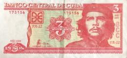 Cuba 3 Pesos, P-127a (2004) - Very Fine - Cuba