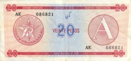 Cuba 20 Pesos, P-FX5 (1985) - Very Fine - Cuba