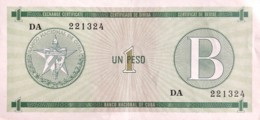 Cuba 1 Peso, P-FX6 (1985) - Very Fine - Cuba