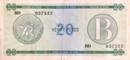 Cuba 20 Pesos, P-FX9 (1985) - Very Fine - Cuba
