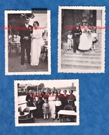 """3 Photos Anciennes - NOGENT Sur MARNE - """" Chez Couvert """" - Mariage à Identifier - 19 Juillet 1937 - Famille - Foto"""