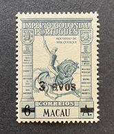 MAC5316MNH-Portuguese Colonial Empire W/ Surcharge - 6 Avos Surcharged 3 Avosstamp - Macau - 1942 - Macau