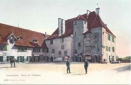 Colombier - Le Cour De Château           Ca. 1910 - NE Neuenburg