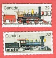CANADA - SG 1132.1133 - 1984   CANADIAN LOCOMOTIVES  -  USED - Oblitérés