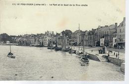 CPA 44 LE POULIGUEN- Le Port Et Le Quai De La Rive Droite-2 Scans - Le Pouliguen