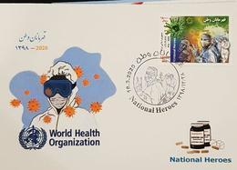 2020 - Maximum Card  National Heroes Stamp , Corona ,  Covid 19 - Iran - Iran