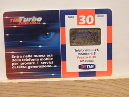 T47 - TIM - TELECOM - 30€ TIM TURBO EDGE UMTS-- TUR30-M ETU D2   - SATINATO PVC - FEB 2007 N° 2341609800 - [2] Handy-, Prepaid- Und Aufladkarten