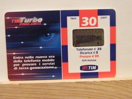 T48 - TIM - TELECOM - 30€ TIM TURBO EDGE UMTS-- TUR30-C ETU D2   - SATINATO PVC - FEB 2007 N° 2337609410 - [2] Handy-, Prepaid- Und Aufladkarten