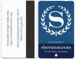 Sheraton Hotels, Used Magnetic Hotel Room Key Card #  Sheraton-11 - Cartas De Hotels