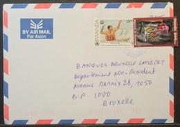 Rwanda - Cover To Belgium 2003 FAO Food Fishing Genocide Memory - Rwanda