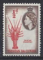 TRISTAN DA CUNHA....QUEEN ELIZABETH II.(1952-NOW)....HALFd......SG14........MNH... - Tristan Da Cunha