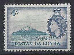 "TRISTAN DA CUNHA....QUEEN ELIZABETH II.(1952-NOW)...."" 1954..""......4d......SG20.......MH. - Tristan Da Cunha"