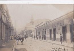 Tarjeta Postal Foto : Los Andes (Chile Chili)  Titre  Calle Del Iglesia  Hotel Del Cumercio    Rarissima Paypal Possible - Chili