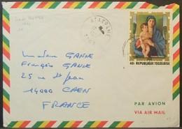 Togo - Cover To France 1974 Madonna With Child Giovanni Bellini 40F Solo - Togo (1960-...)