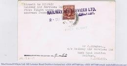 Ireland Airmail 1935 Glasgow-Belfast FIRST FLIGHT Violet RAILWAY AIR SERVICES LTD BELFAST 2 DEC 1935 - Poste Aérienne