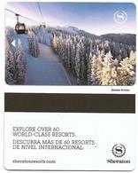 Sheraton Hotels, Used Magnetic Hotel Room Key Card # Sheraton-38b - Cartas De Hotels