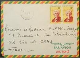 Togo - Cover To France Graphics Statistics - Togo (1960-...)