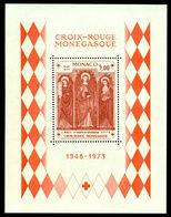 Monaco 1973 Red Cross,Church Of Dolce Acqua,Saint,Agatha,Barbara,M.Bl.5,MNH - Christianisme