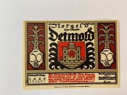 Allemagne Notgeld Detmold 50 Pfennig - 1918-1933: Weimarer Republik