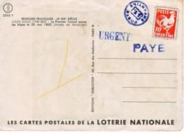 FRANCE : Poste Enfantine Sur Carte Postale De La Loterie Nationale - Unclassified