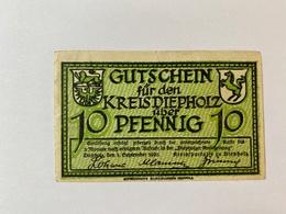 Allemagne Notgeld Depholz 10 Pfennig - 1918-1933: Weimarer Republik