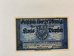 Allemagne Notgeld Depholz 25 Pfennig - 1918-1933: Weimarer Republik