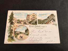 CPA 1898 Col De La Schlucht Lithographie Multivues - Francia