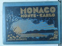 MONACO  12 VUES PETIT FORMAT NOIRE ET BLANC - Dépliants Touristiques
