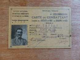 VP-2  ,  Carte Du Combattant , 1936-1941 - Historical Documents