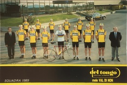Postcard Del Tongo - Mele Val Di Non (teamcard)  -  1989 - Ciclismo