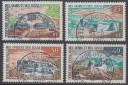 Afars Et Issas (Territoire Des) - N° 337 à 340 (YT) Oblitérés. Belles Oblitérations De Djibouti. - Afars Y Issas (1967-1977)