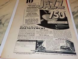 ANCIENNE PUBLICITE 10 GRANDS CLASSIQUES DU JAZZ  1956 - Música & Instrumentos