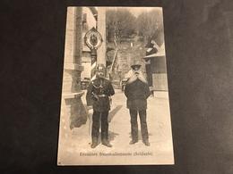 CPA 1900/1920 Frontière De La Schlucht Les Douaniers à Grandes Barbes Timbre Allemand - Gerardmer