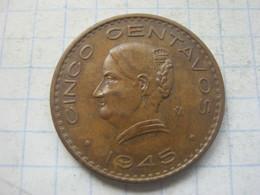 Mexico , 5 Centavos 1945 - Mexico