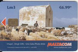 MALTA - Sheeps, Chapel/Dingli Clifts, Tirage 50000, 07/07, Used - Telefonkarten
