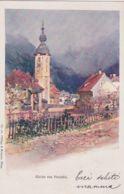 1901 AUSTRIA PONTAFEL Kirche Viaggiata (11.8) Affrancata K.5 Per Udine Tassata C.10 - Covers & Documents