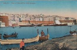 MALTA-LA VALLETTA-FROM SENGLEA-CARTOLINA NON VIAGGIATA-SCRITTA E DATATA 4-11-1918 - Malta