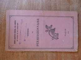 VP 18 ,  Guide Du Permissionnaire ,93e Régiment D'Infanterie, 1917 - Historical Documents